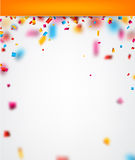Festive background with confetti. Abstract festive background with colour confetti. Vector paper illustration Stock Images