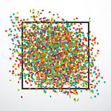 Festive background with confetti. Festive background with colorful confetti, eps 10 Royalty Free Stock Photos