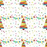 Festive background with confetti. A seamless pattern with yellow stars. A festive background with confetti. A seamless pattern with yellow stars and Christmas Royalty Free Stock Images