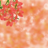 Festive background with defocused lights. Bokeh background. illustration Stock Image