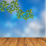 Festive background with defocused lights. Bokeh background. illustration Royalty Free Stock Photo