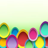 Festive background with Easter egg. Abstract trendy background with colorful 3d Easter egg. Festive vibrant card with Easter egg. Beautiful stylish modern Easter Royalty Free Stock Photography