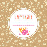 Festive background with Easter eggs and space for text. Vector template for greeting cards, invitations, posters, covers Stock Image