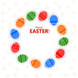 Festive background with Easter eggs Stock Image