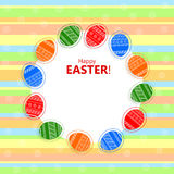 Festive background with Easter eggs Royalty Free Stock Image