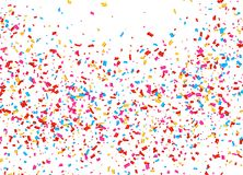 Festive background with falling confetti. Vector Royalty Free Stock Photo