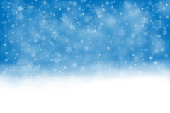 Festive background with falling snow Stock Photography