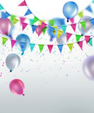 Festive background. With flags and balloons Royalty Free Stock Photography
