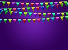 Festive background with flags. Festive background with color flags Royalty Free Stock Images