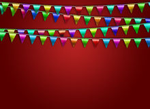 Festive background with flags. Festive background with color flags Royalty Free Stock Photos