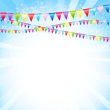 Festive background with flags. Festive background with colorful flags Royalty Free Stock Image