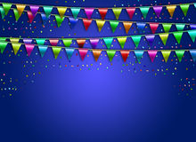 Festive background with flags. Confetti Stock Photos