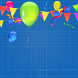Festive background with flags Royalty Free Stock Image