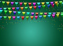 Festive background with flags. Happy ne year 2017 Royalty Free Stock Images