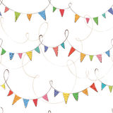Festive background with flags Royalty Free Stock Photography