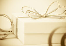 Festive background with gift Royalty Free Stock Photo