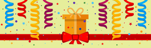Festive background. With gift box and red ribbon. Eps 10 Royalty Free Stock Image