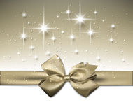 Festive Background. With gold bow. Vector Illustration Stock Photos