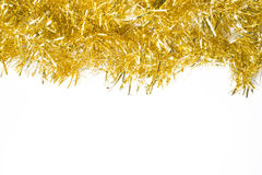 Festive background with gold garland Stock Photography