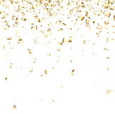 Festive background with golden confetti. Royalty Free Stock Photography