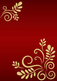Festive background with golden floral ornament Royalty Free Stock Photos