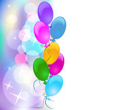Festive background for greeting card. Background with balloons for various design artwork Royalty Free Stock Photography