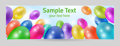 Festive background. Greeting card or banner template Stock Image