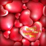 Festive background or greeting card. Happy Valentines Day greeting card template Stock Images