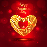 Festive background or greeting card. Happy Valentines Day greeting card template Royalty Free Stock Photos