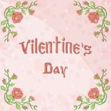 Festive background for greeting Valentines Day. Vector festive background for greeting Valentines Day Stock Photo