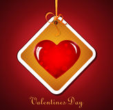 Festive background with hanging heart. For Valentine's Day Royalty Free Stock Photo