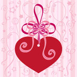 Festive background with heart. Vector Stock Images