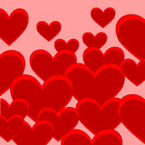Festive background from heart. The Bright decorative background with red heart Stock Image