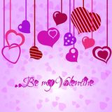 Festive background with heart garland on Valentine's day. February 14 - day for all lovers Royalty Free Stock Photography