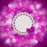 Festive background with hearts, bokeh Stock Images