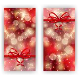 Festive background with hearts, bokeh Royalty Free Stock Images