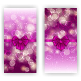 Festive background with hearts, bokeh Royalty Free Stock Photo