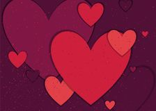 Festive background with hearts. Vector Royalty Free Stock Image
