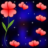 Festive background with hearts. To the day of saint Valentin Royalty Free Stock Photo