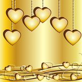 Festive background with hearts Royalty Free Stock Images