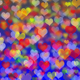 Festive background of hearts for Valentine's Day Royalty Free Stock Photos