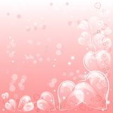 Festive background with hearts on Valentine's day. February 14 - day for all lovers. Vector illustration Royalty Free Stock Image