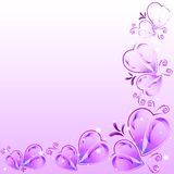 Festive background with hearts on Valentine's day. February 14 - day for all lovers Stock Images
