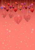 Festive background with hearts on Valentine's day. February 14 - day for all lovers Stock Photography