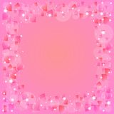 Festive background with hearts on Valentine's day. February 14 - day for all lovers Stock Photo