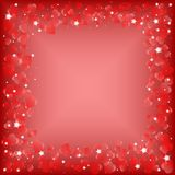 Festive background with hearts on Valentine's day. February 14 - day for all lovers Royalty Free Stock Photos