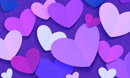 Festive background with hearts. Vector Stock Images