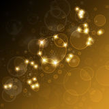 Festive background with highlights and bokeh. Vector art illustration Royalty Free Stock Photography