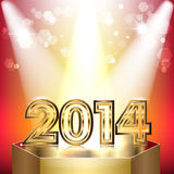 Festive background. With light effects, Happy New Year 2014 Royalty Free Stock Images