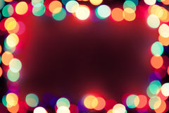 Festive background with lights frame Royalty Free Stock Photography